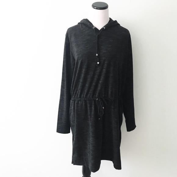708e1311e07 MICHAEL KORS Dark Gray marled Sweatshirt Dress. M 5ab87ba9a44dbe021cd0ff0f